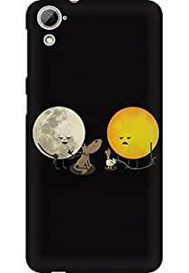 AMEZ designer printed 3d premium high quality back case cover for HTC Desire 826 (sun moon doodle)