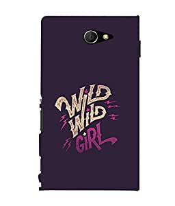printtech Wild girl Back Case Cover for Sony Xperia M2 Dual D2302::Sony Xperia M2
