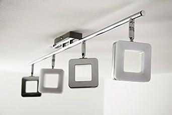 barre 4 spots turin 4 4 x 6 watt 2000 lumen 3000 kelvin luminaires et eclairage m96. Black Bedroom Furniture Sets. Home Design Ideas