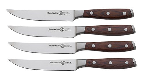 Messermeister Avanta 4-Piece Fine Edge Steak Knife Set, Pakkawood Handle