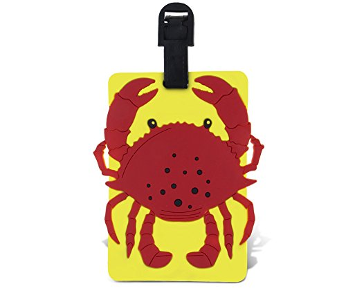 WeGlow International Fun Luggage Tag - Crab