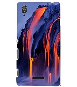 SONY XPERIA T3 LAVA Back Cover by PRINTSWAG