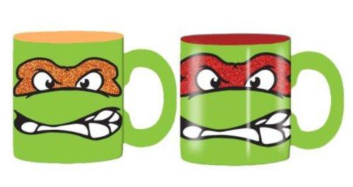 Mug - Teenage Mutant Ninja Turtles Tmnt - Face (Ceramic Coffee Cup, 14Oz, Set Of 2)