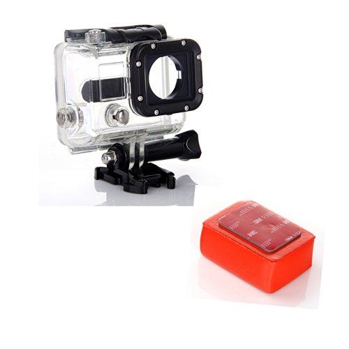 Masione™ Waterproof Underwater Skeleton Replacement Housing Case +Floaty Float + 3M Adhesive Anti Sink For Gopro Hd Hero 3 Hero 3 Plus Camera