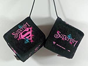 Supergirl - Hanging Auto, Car, Truck Fuzzy Dice Ornament