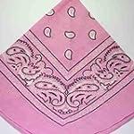 PALE Pink Bandana with Black & White...