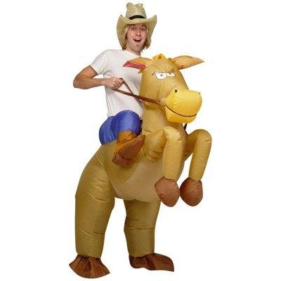 eSecure - Inflatable Horse Riding Cowboy Costume Suit-Fancy Dress