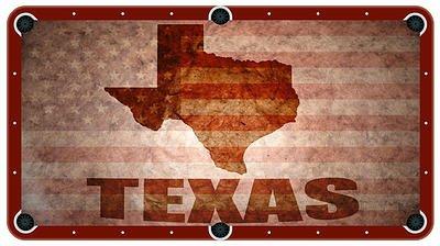 Texas and US Flag Billiard Cloth Pool Table Felt