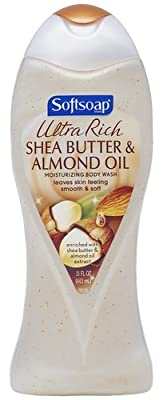 Softsoap Ultra Rich Shea Butter and Almond Oil Moisturizing Body Wash, 15 Fluid Ounce