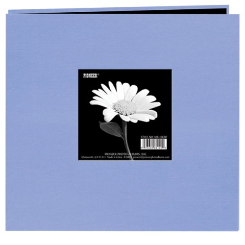 Pioneer 8 Inch by 8 Inch Postbound Frame Cover Memory Book, Heavenly Blue