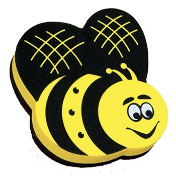 16 Pack ASHLEY PRODUCTIONS MAGNETIC WHITEBOARD ERASER BEE