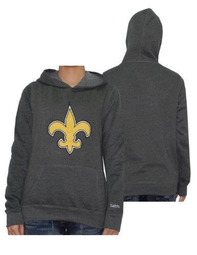 Womens NFL New Orleans Saints Athletic Hoodie by Pink Victoria's Secret Large Grey at Amazon.com