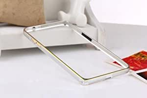 Exclusive Aluminium Metal Screwless Dual Tone Bumper Frame Case Cover For Lenovo A7000 / K3 Note - Silver
