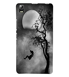 ColourCraft Scary Night Design Back Case Cover for LENOVO K3 NOTE