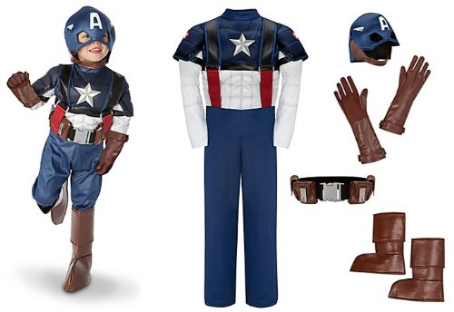 Disney Store/Marvel The Avengers Captain America Muscle Costume Size Large 10/12