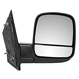 Passengers Manual Side View Mirror with Dual Glass Replacement for Chevrolet GMC Van 20838066