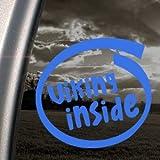 Viking Inside Blue Decal Car Truck Bumper Window Blue Sticker