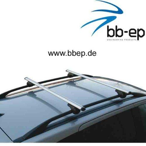 Einfacher Aluminium Dachträger 90302436 für BMW Serie 5 Touring (E39) mit normaler (hochstehender) Dachreling für U-Bügel Montage oder T-Nut Montage mit 14 mm Breite