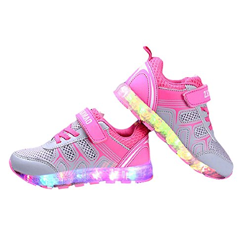 zapatos-led-nios-Kidslove-Zapatillas-led-nio-Zapatos-LED-nia-brillo-led-Zapatilla-de-la-moda-Zapatos-con-LED-7-colores-Zapatos-casuales-para-nios-USB-Carga-Sneakers-infantiles-deportes