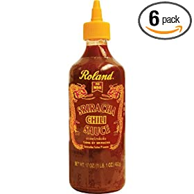 Roland Sriracha Chili Sauce, 17-Ounce Plastic Bottle (Pack of 6)
