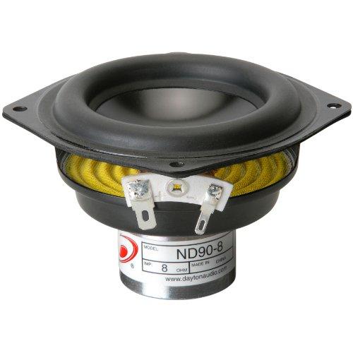 """Dayton Audio Nd90-8 3-1/2"""" Aluminum Cone Full-Range Driver 8 Ohm"""