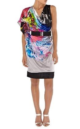 Silk Printed Kimono Dress