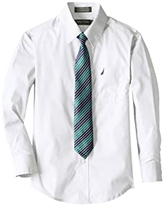 Nautica Boys 8-20 Basic Broadcloth Shirt Tie Set from Nautica