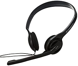 Sennheiser PC 36 USB Binaural On-Ear Headphone with Microphone (Black)
