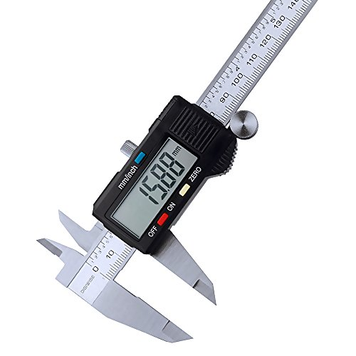 Digiwise Vernier Metric Digital Caliper with LCD, 0-6 inch / 150mm Stainless Steel Electronic Depth Gauge Measuring Tools (Digital Slide Rule compare prices)