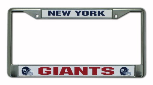 NFL New York Giants Chrome Licensed Plate Frame at Amazon.com
