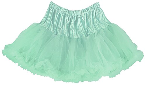 Girls 4/6 Carib. Blue Colorful Affordable and Fun Layered Ruffled Pettiskirt for Dress Up
