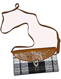 Krisha Creations Faux Leather Casual Flap Designer Sling Bag For Girls Side Purse With Shoulder Strap