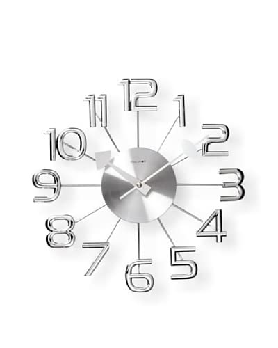 Verichron Clocks Ultra-Modern Numeral Wall Clock