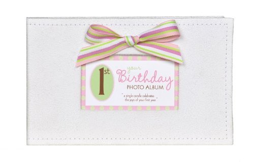 Baby's First Birthday Photo Album - 1st Birthday Girl Brag Book - 1