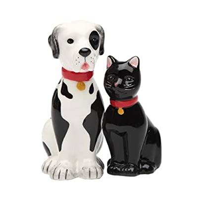 Salt and Pepper Shakers Set DOG AND CAT