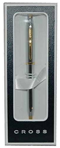 Cross-Century-II-Medalist-Ballpoint-Pen-with-Polished-Chrome-and-23-Karat-Gold-Plated-Appointments-3302WG