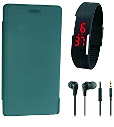 BKDT Marketing Flip Cover for Lava Iris Fuel F1 With Digital Watch, Handsfree
