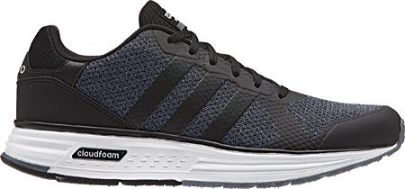 Adidas NEO Men's Cloudfoam Flyer Fashion Sneaker, Onix/Black/Matte Silver, 9 M US
