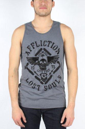 Affliction - Mens Sky Relic 50/50 Tank Tank Top In Silver, Size: Medium, Color: Silver