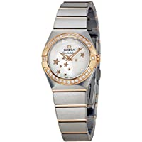 Omega Constellation Mother of Pearl Steel and Rose Gold Diamond Ladies Watch (12325246005002)