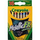 Crayola 16CT Metallic FX Crayons (Color: Assorted Metallic., Tamaño: 1-Pack)