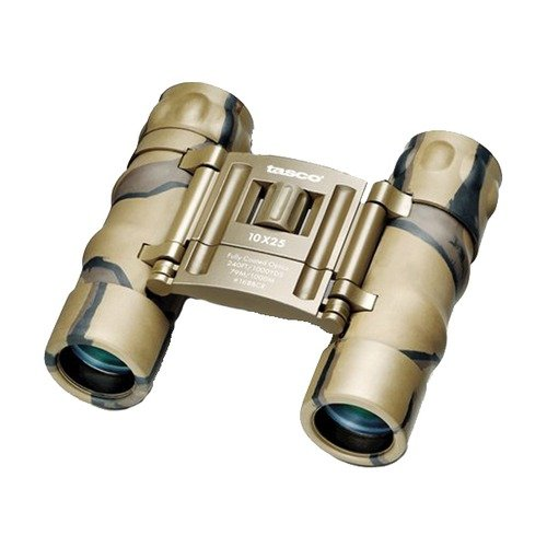 Tasco Essentials 10X 25Mm Roof Prism Compact Binoculars (Brown Camo)