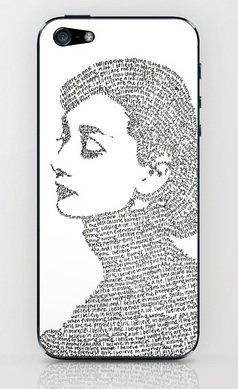 並行輸入品オードリー・ヘップバーン society6 iphone 5/5sステッカー (Audrey2)