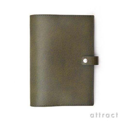 HERGOPOCH エルゴポック Waxed Leather ワキシングレザー 06W-DB6 Diary Cover ダイアリーカバー B6サイズ (グリーン)