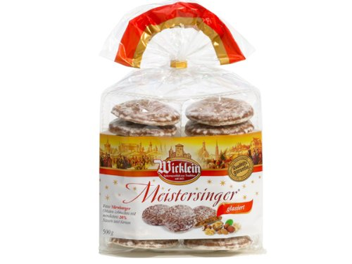 Wicklein Meistersinger Oblaten-Lebkuchen glasiert 500g