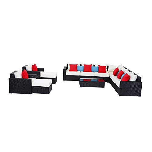 Outsunny-13-Piece-Outdoor-Rattan-Wicker-Sectional-Sofa-Furniture-Set
