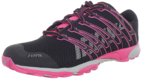Inov-8 Women's F-lite 215 Fitness Shoe,Black/Pink/Grey,8.5 M US