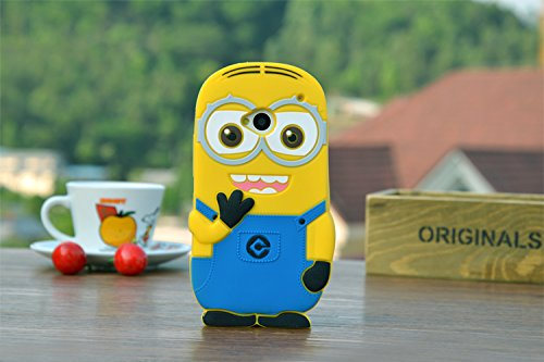 Heartly Cute Despicable Me Minion Soft Rubber Silicone Flip Bumper Best Back Case Cover For HTC One M7 Single Sim & 802D 802W 802T Dual Sim Double Eye