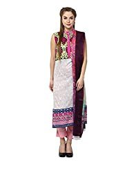 Yepme Women's Multi-Coloured Blended Semi Stitched Suit - YPMRTS0328_Free Size