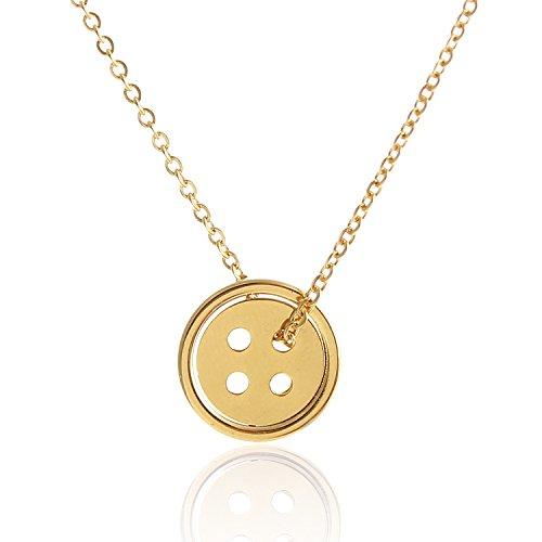 Aolo-Korean-Drama-Pinocchio-Lucky-Button-Necklace-Kpop-Charm-Necklaces